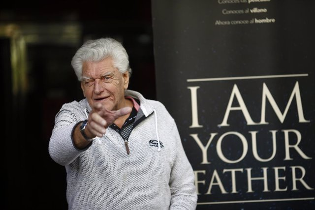 El actor David Prowse, que interpretó a Darth Vader