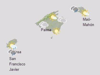 El tiempo, hoy domingo 29 de noviembre, en Baleares