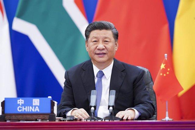 El presidente chino, Xi Jinping, durante una cumbre entre China y África