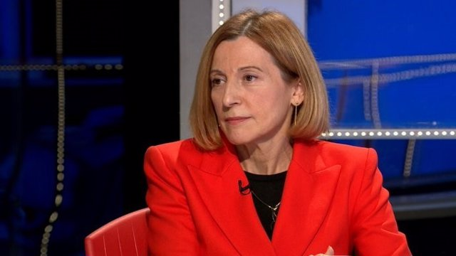 L'expresidenta del Parlament i condemnada per l'1-O, Carme Forcadell, en una entrevista al programa FAQS de TV3.