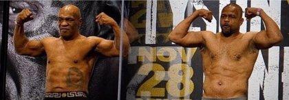 Mike Tyson y Roy Jones Jr. empatan en su exhibición de leyendas
