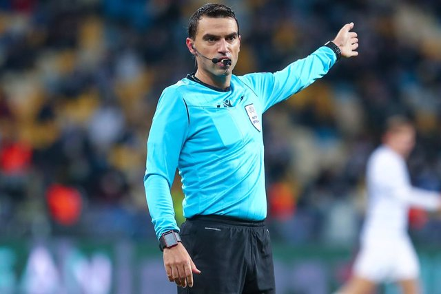 Referee Ovidiu Hategan during the UEFA Champions League, Group Stage, Group G football match between Dynamo Kiev and Juventus on October 20, 2020 at NSK Olimpiyskiy in Kiev, Ukraine - Photo Andrey Lukatsky / Orange Pictures / DPPI