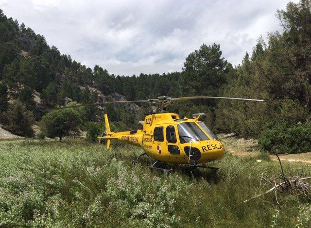 Helicóptero de Protección Civil.