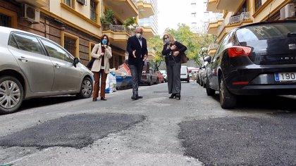 """Ciudadanos Sevilla advierte de la """"mala ejecución"""" de las obras de reasfaltado en el barrio de Nervión"""