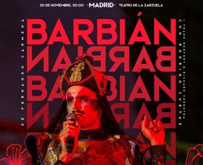 Rodrigo Cuevas presenta este lunes en Madrid el espectáculo 'Barbian'