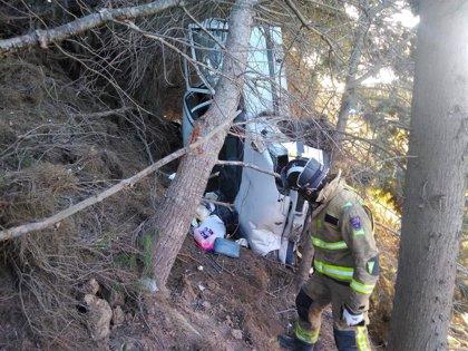Heridas dos personas al salirse de la vía el coche en el que viajaban en la AP-7 a su paso por San Javier