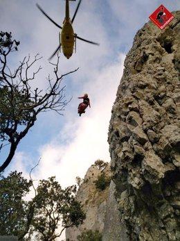 Rescate del escalador
