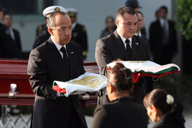 El expresidente de México Felipe Calderón (2006-2012) y el que fuera su secretario de Seguridad Pública, Genaro García Luna