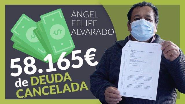 Angel Felipe, ha cancelado todas sus deudas gracias a Repara tu Deuda