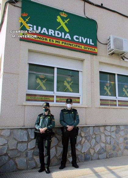 La Guardia Civil investiga en San Javier a tres hombres por simular ser víctimas de robos