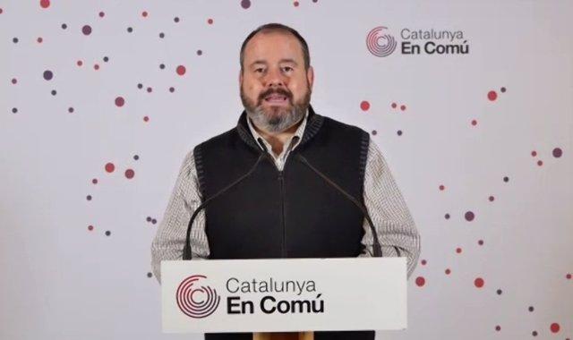 El portaveu dels comuns, Joan Mena