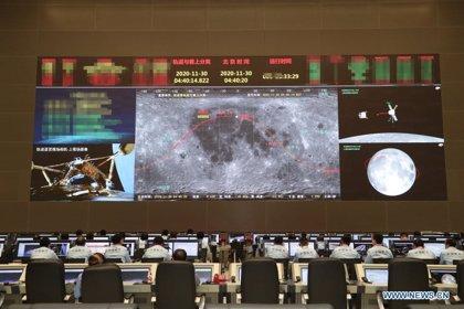 La sonda china Chang'5 se despliega para recoger muestras en la Luna