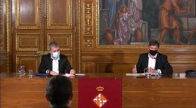 Jaume Collboni i Antonio Cañete signen el conveni