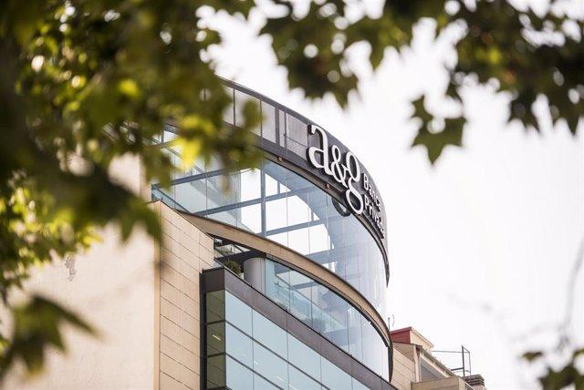 Sede de A&G Banca Privada, en el Paseo de la Castellana, Madrid.