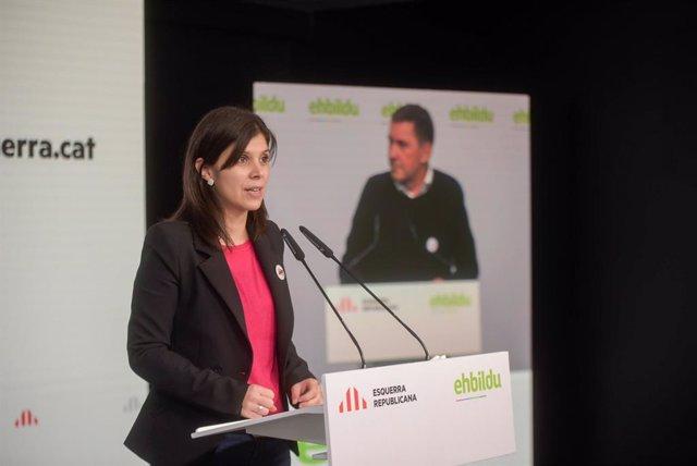 Roda de premsa telemàtica de Marta Vilalta (ERC) i Arnaldo Otegi (Bildu).