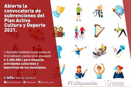 La Diputación de Cáceres destina 2,3 millones de euros a financiar actividades culturales y deportivas en los municipios