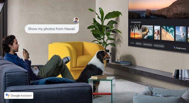 Asistente de Google  en Smart TV 2020 de Samsung