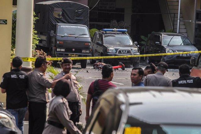 Imagen de archivo de un ataque de presuntos yihadistas en Indonesia.