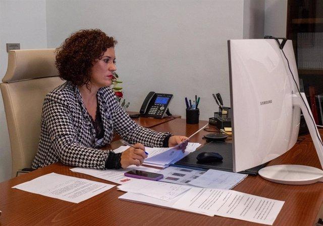 La presidenta de la Diputación Provincial de Huelva, María Eugenia Limón.