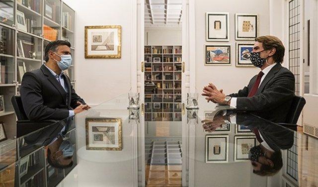 El expresidente del Gobierno José María Aznar se reúne con el líder de Voluntad Popular, Leopoldo López, pocos días antes de las eleccionses en Venezuela. En Madrid, a 30 de noviembre de 2020.