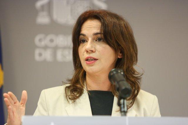 La secretaria de Estado de Sanidad, Silvia Calzón, da una rueda de prensa para informar de la evolución de la pandemia de coronavirus en Madrid (España), a 30 de noviembre de 2020.