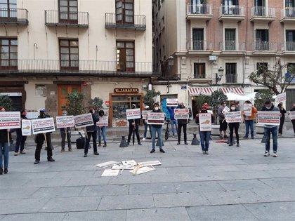 """El sector del ocio nocturno acampará """"de inmediato"""" ante el Palau de la Generalitat si Sanidad no autoriza su reapertura"""