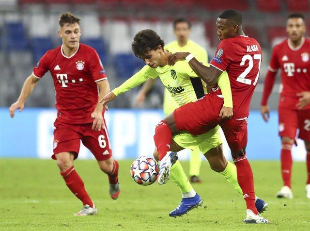 Joao Félix (Atlético) y Alaba (Bayern)