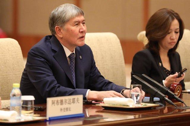 El expresidente de Kirguistán Almazbek Atambayev