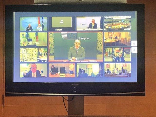 Reunión del Eurogrupo por videoconferencia