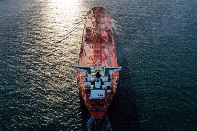 Imagen de archivo de un petrolero.