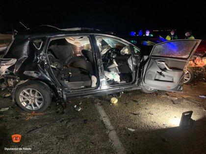 Una joven muere y 3 personas resultan heridas en una colisión cuádruple en Ajofrín