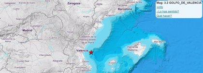 El Golfo de Valencia registra 22 terremotos de baja magnitud durante la noche