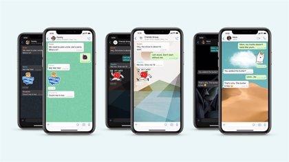 WhatsApp añade mejoras en fondos de pantalla, un buscador de stickers y un nuevo paquete de pegatinas animadas de la OMS