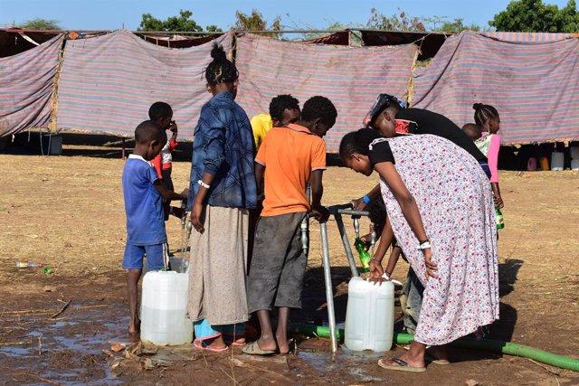 Refugiados etíopes en Sudán