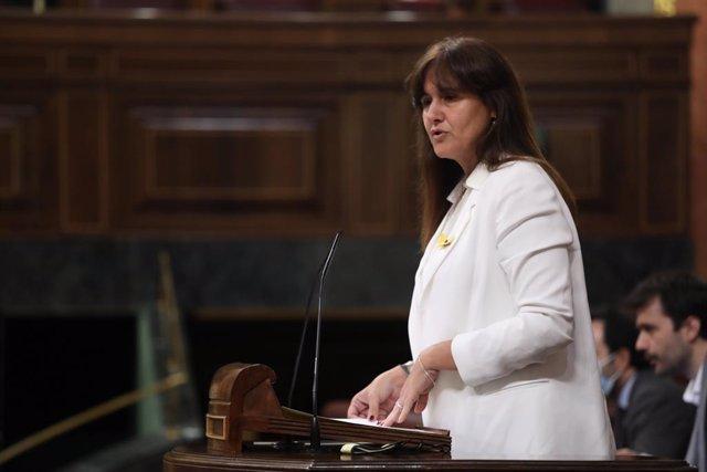 La portaveu de JxCat al Congrés dels Diputats, Laura Borràs. Madrid (Espanya), 29 de juliol del 2020.