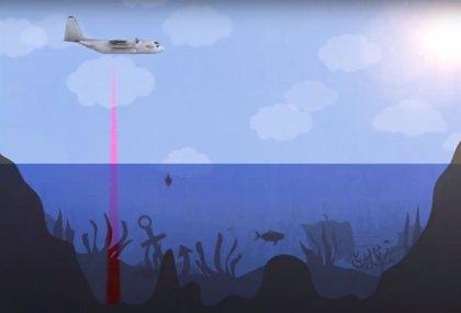 Un sónar aerotransportado para ver el fondo marino como tierra firme
