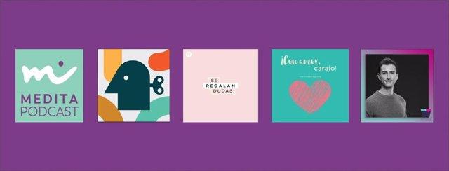 Podcast sobre meditación y bienestar de Spotify.