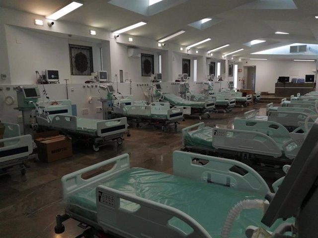 Capilla del Hospital Virgen de las Nieves, acondicionado como espacio UCI