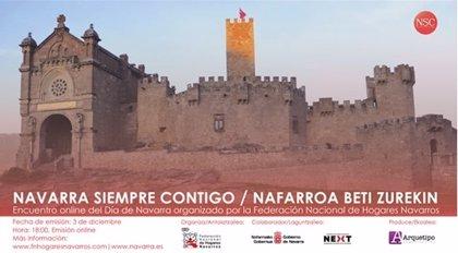 La Federación Nacional de Casas y Hogares Navarros celebra el Día de Navarra con un encuentro online