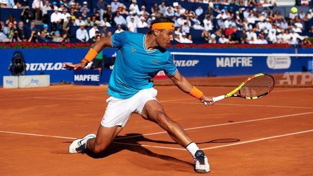 El tenista español Rafa Nadal en el Barcelona Open Banc Sabadell 2019
