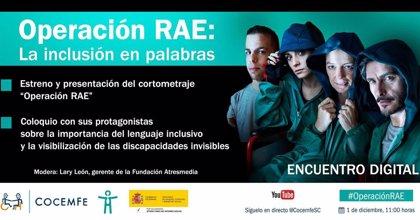 """Un cortometraje narra el robo de la palabra """"minusválido"""" de la RAE para concienciar sobre el lenguaje inclusivo"""