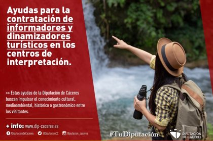 Publicadas las ayudas de la Diputación de Cáceres para contratar personal en los centros de interpretación