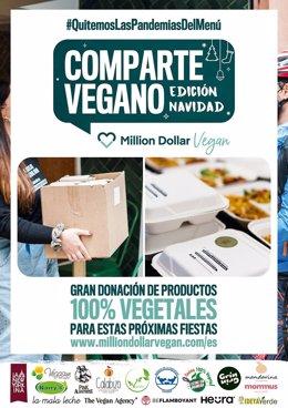 Cartel Comparte Vegano Million Dollar Vegan