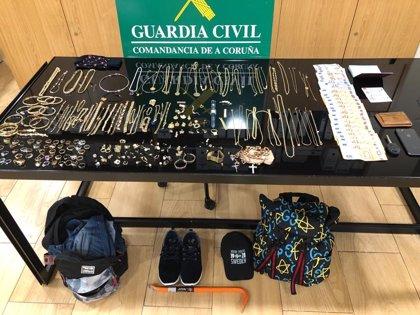 Desarticulado un grupo criminal acusado de más de una veintena de robos en viviendas de toda Galicia