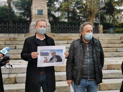 Archivadas las denuncias de Baltar contra el PSOE por una valla publicitaria contra el PP en los comicios autonómicos