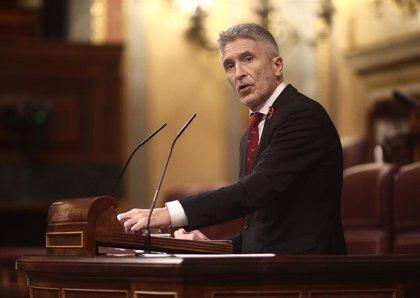 """Marlaska censura que Cs """"lo señale"""" como hizo ETA y dice que """"no se paga ningún peaje"""" por los Presupuestos"""