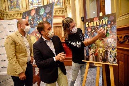 'Una noche de Carnavales del Mundo', de Sandro Morales, cartel oficial del Carnaval de Santa Cruz de Tenerife