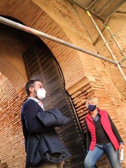La delegada de Cultura en Almería visita la Alcazaba