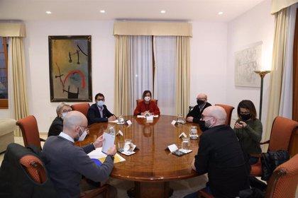 Armengol recibe en Audiencia al Foro de la Sociedad Civil para la Reconstrucción de Baleares