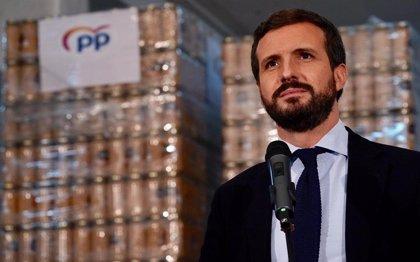 """Casado acusa a Sánchez de aprovechar la pandemia para avanzar hacia una """"nación a su medida"""" con """"recorte de libertades"""""""